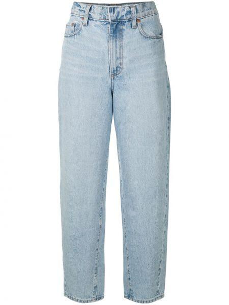 Синие свободные прямые джинсы с поясом свободного кроя Nobody Denim