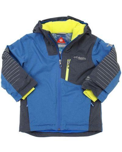 Нейлоновая куртка горнолыжная на молнии с принтом Columbia