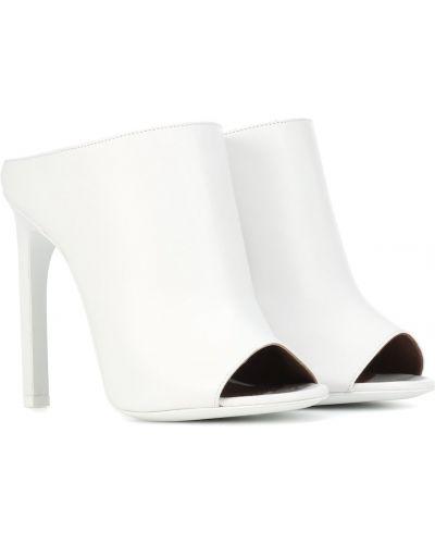 Otwarty biały muły z prawdziwej skóry Givenchy
