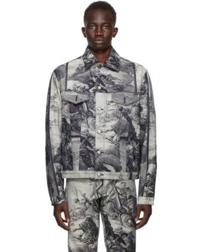 Z rękawami srebro kurtka jeansowa z kołnierzem rozciągać Who Decides War By Mrdr Brvdo