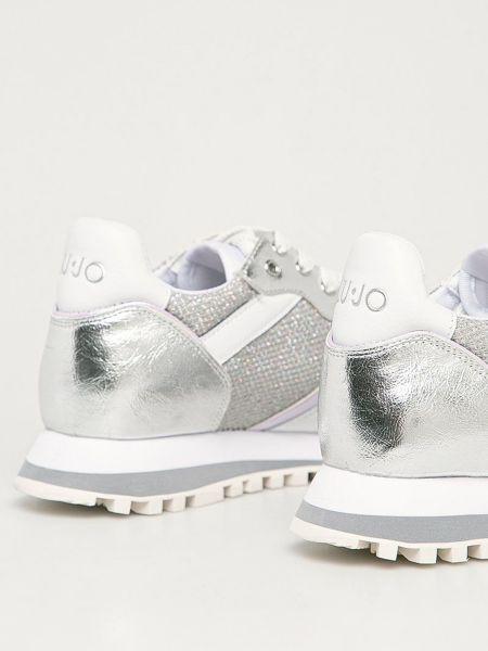Серебряные кроссовки Liu Jo