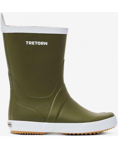 Резиновые сапоги на каблуке - хаки Tretorn