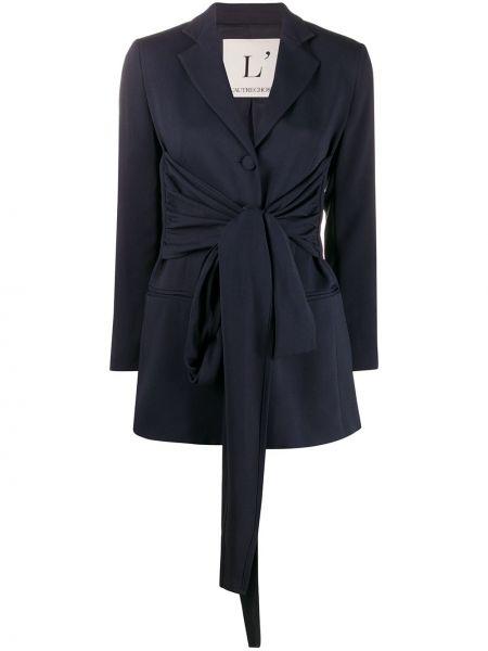 Синий пиджак с поясом из вискозы L'autre Chose