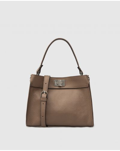 Кожаная сумка - бежевая Gianni Notaro