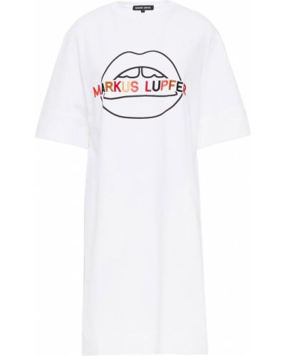 Трикотажное платье мини - белое Markus Lupfer