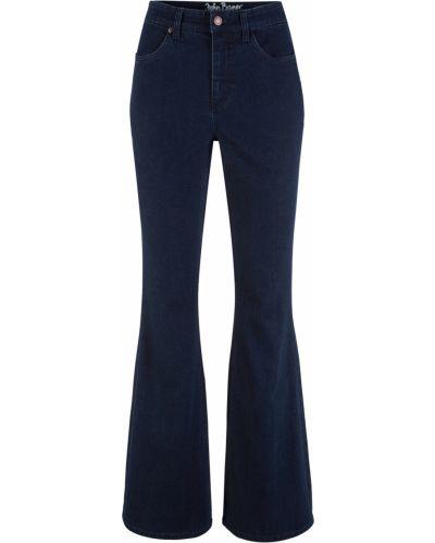 Расклешенные джинсы свободные стрейч Bonprix
