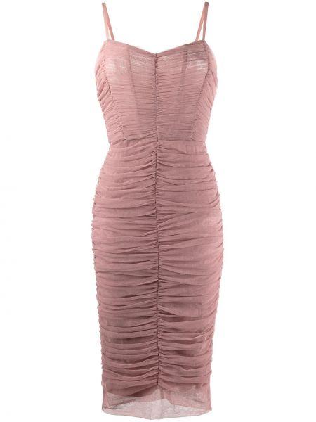 Платье миди на бретелях на молнии Dolce & Gabbana