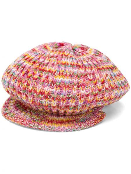 Różowy beret wełniany Missoni