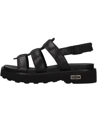 Czarne sandały Cult