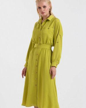 Платье платье-рубашка желтый Lova