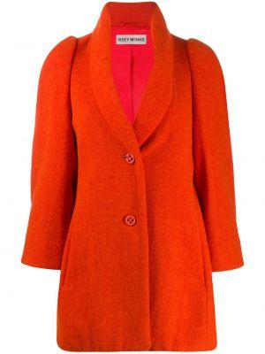 Długi płaszcz wełniany z kieszeniami Issey Miyake Pre-owned