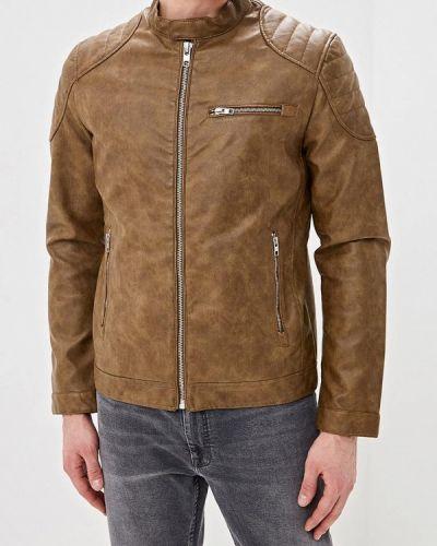 Кожаная куртка коричневая Springfield