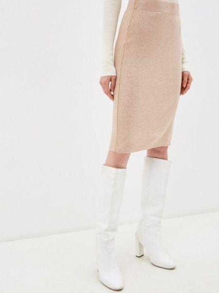 Бежевая прямая юбка карандаш Zarina