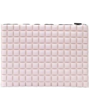 Różowa kopertówka pikowana z nylonu No Ka' Oi