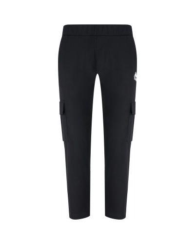 Хлопковые черные брюки с карманами Kappa