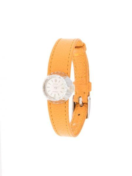 Skórzany zegarek okrągły ze złota Rolex