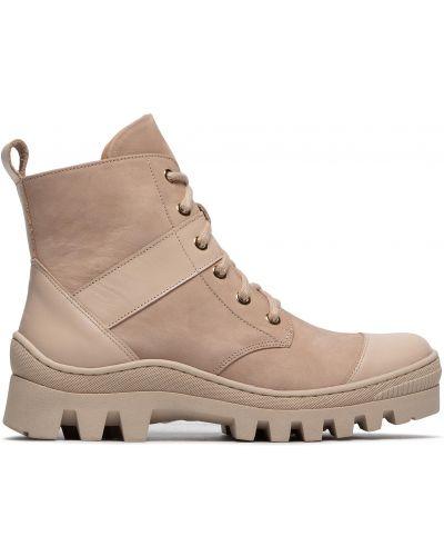Кожаные ботинки - бежевые R.polański