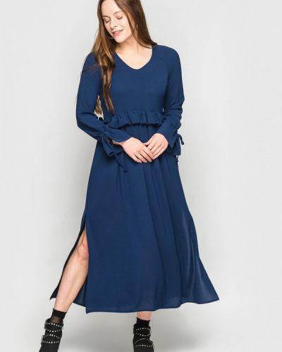 Прямое синее платье А-силуэта Evercode