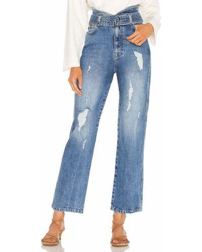 Klasyczne niebieskie jeansy bawełniane Marissa Webb