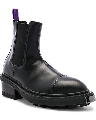 Skórzany czarny buty skórzane na pięcie elastyczny Eytys