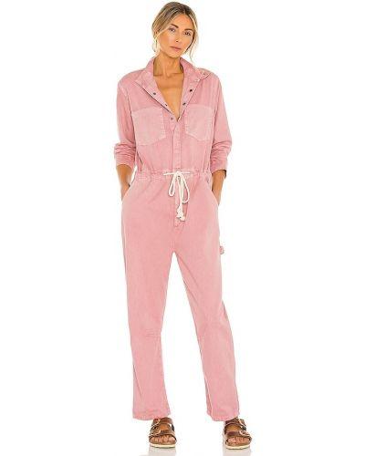 Ватный розовый полукомбинезон с карманами One Teaspoon
