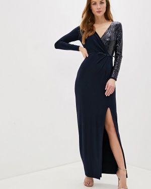 Вечернее платье осеннее синее Lauren Ralph Lauren