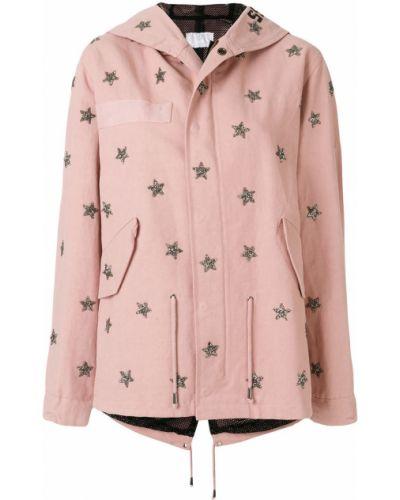 Кожаная куртка розовая As65
