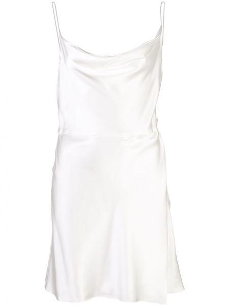 Драповое платье мини с открытой спиной Markarian