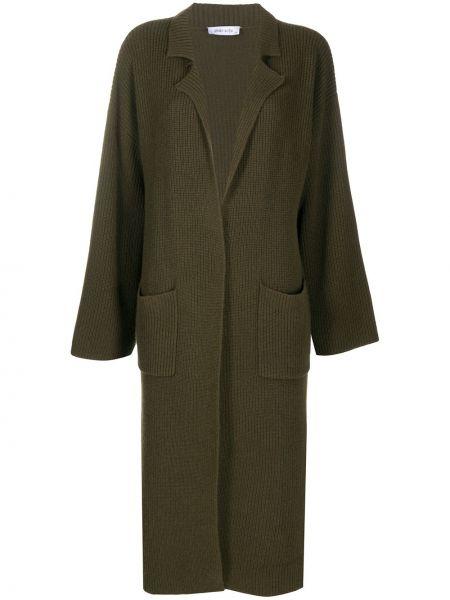 Классическое кашемировое зеленое пальто классическое с воротником Philo-sofie