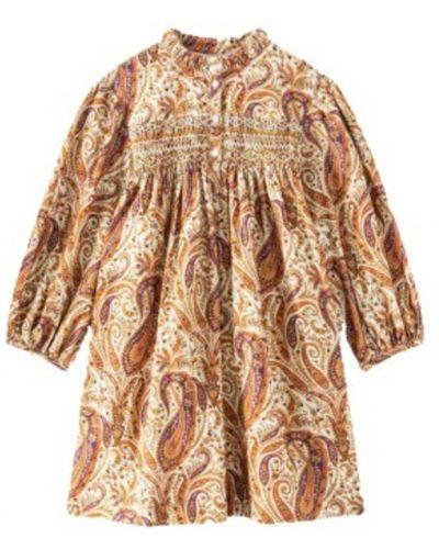 Beżowa sukienka Bonpoint