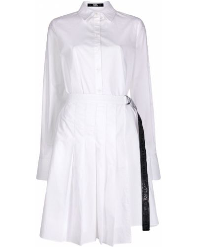 Платье миди на пуговицах из поплина Karl Lagerfeld