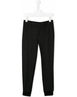 Spodnie z kieszeniami czarne Neil Barrett Kids