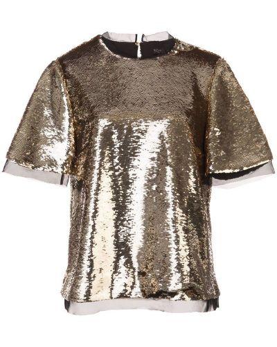 Блузка с пайетками прозрачная Rachel Zoe