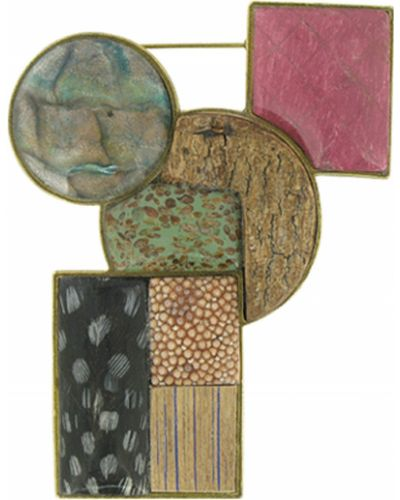 Брошь с камнями с перьями Nature Bijoux