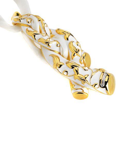 Шелковое ожерелье золотое позолоченное Graziella