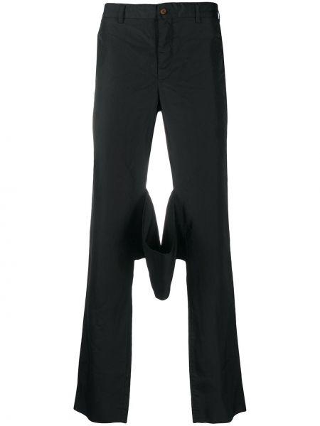 Czarne spodnie z wysokim stanem Comme Des Garcons Homme Plus