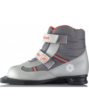 Серые ботинки для беговых лыж Nordway