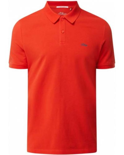 T-shirt bawełniana - pomarańczowa S.oliver Red Label