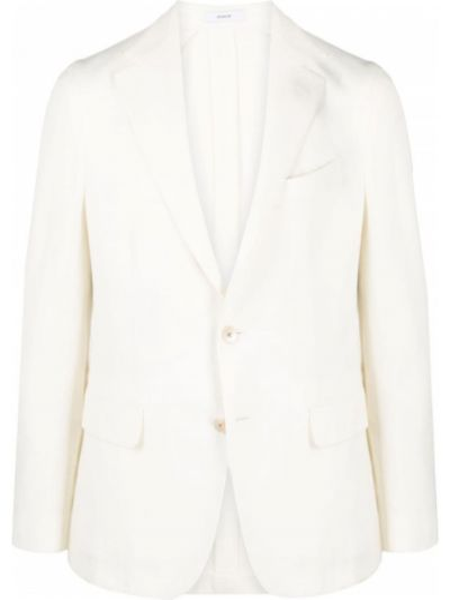 Biały garnitur wełniany z długimi rękawami Boglioli