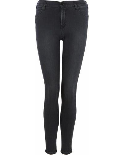 Черные джинсы с высокой посадкой с высокой посадкой Replay