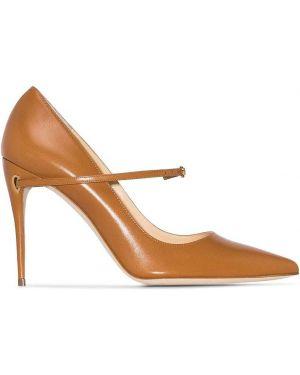 Коричневые туфли-лодочки Jennifer Chamandi