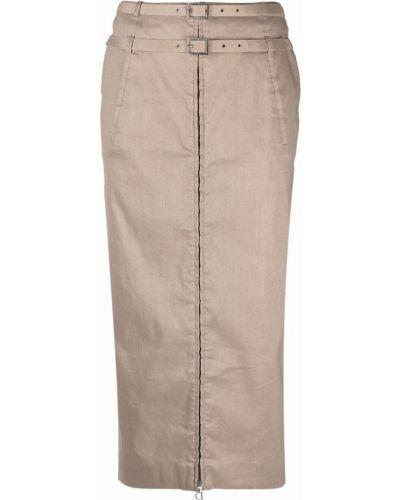Beżowa lniana spódnica Christian Dior