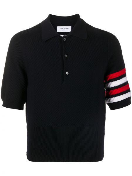 Koszula krótkie z krótkim rękawem klasyczna z paskami Thom Browne