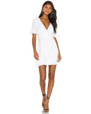 Белое платье мини с вырезом эластичное Bcbgeneration