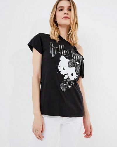 Черная футболка Pinko