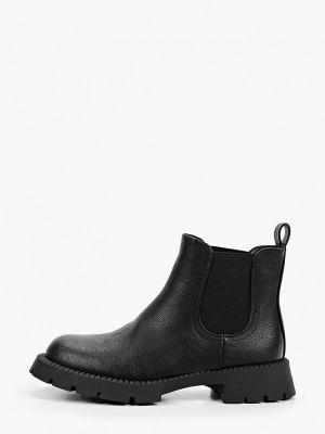 Черные кожаные ботинки челси Go-go