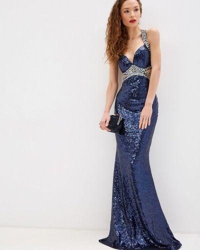 Вечернее платье осеннее синее Soky & Soka