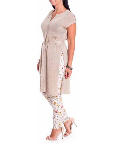 Платье с поясом через плечо льняное Lagvua