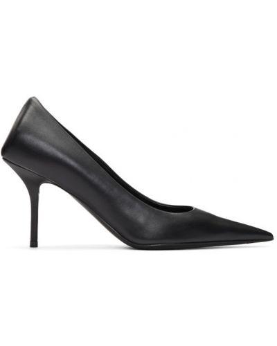 Кожаные туфли-лодочки на каблуке квадратные Balenciaga