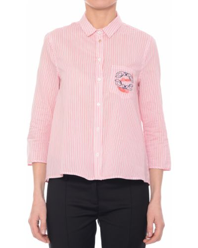 Розовая рубашка хлопковая Patrizia Pepe
